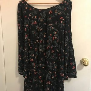 Floral dress with open back